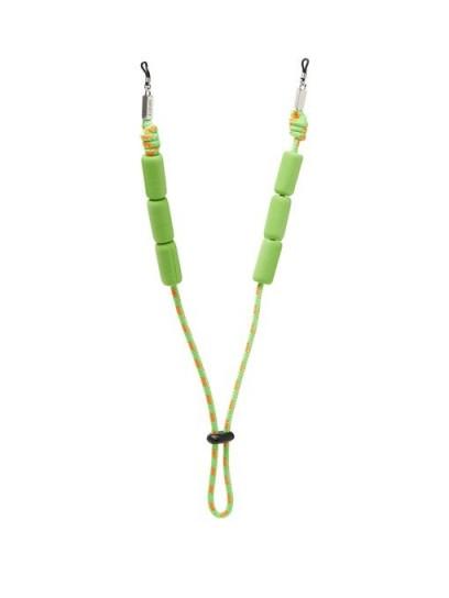 LOEWE PAULA'S IBIZA Adjustable braided cord sunglasses strap in green / bright summer eyewear straps
