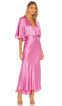 AIIFOS Isabelle Dress Pink ~ fluid silk dresses