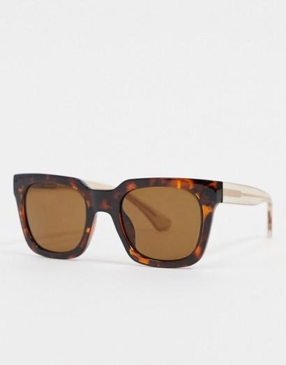 A.Kjaerbede square sunglasses in brown – tortoiseshell frames