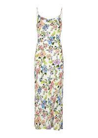 ALICE + OLIVIA Harmony floral-print midi dress / slip dresses