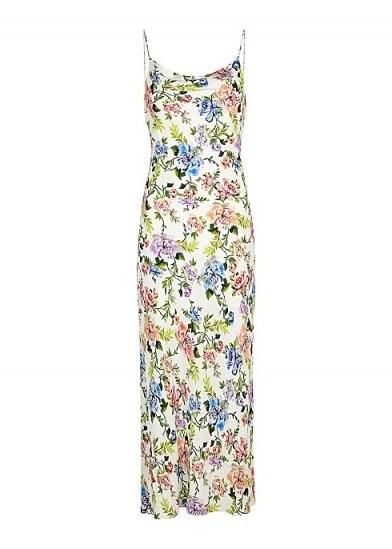 ALICE + OLIVIA Harmony floral-print midi dress / slip dresses - flipped