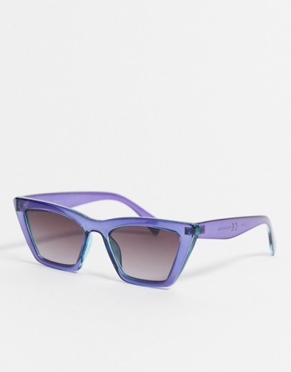 & Other Stories squared cat-eye sunglasses in purple – vintage style accessories