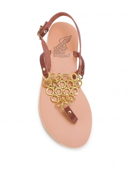 ANCIENT GREEK SANDALS Ioannina sandals / chain detail flats