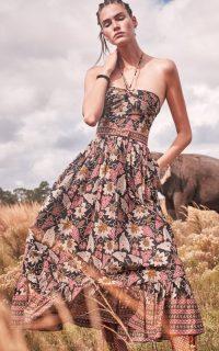 Alexis Aniessa Printed Cotton Halterneck Dress / summer halter dresses