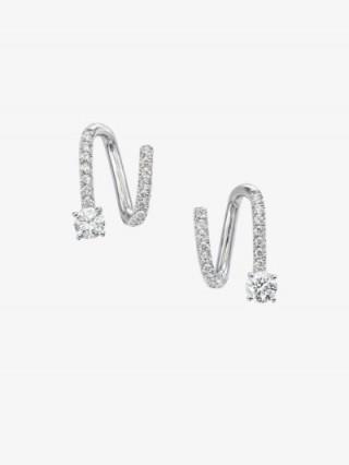 Anita Ko 18K White Gold Spiral Diamond Earrings