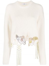 AREA crystal-embellished knitted jumper ~ luxury statement knitwear