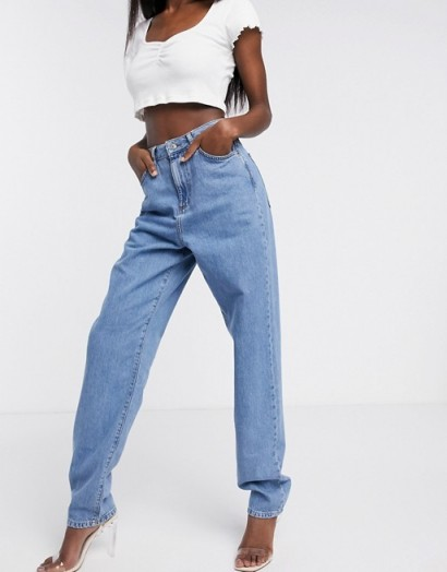 ASOS DESIGN Lightweight 'Slouchy' mom jeans in midwash