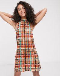 ASOS MADE IN KENYA check print dress