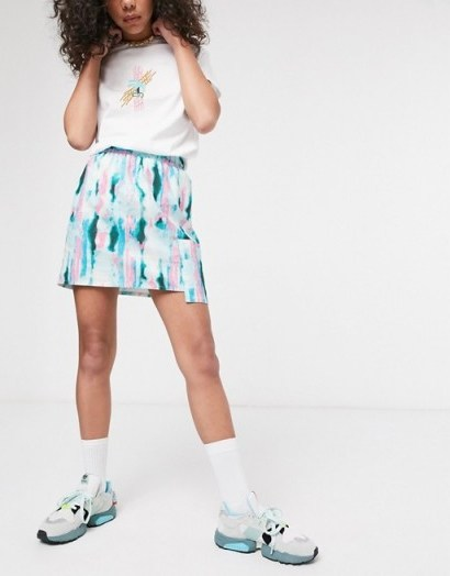 ASOS MADE IN KENYA tye dye mini skirt with utility pocket - flipped