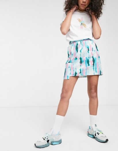 ASOS MADE IN KENYA tye dye mini skirt with utility pocket