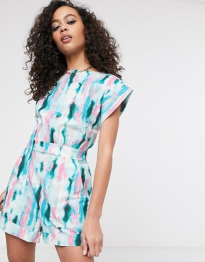 ASOS MADE IN KENYA tye dye playsuit / summer playsuits - flipped