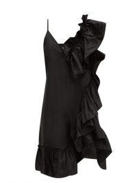 MARQUES'ALMEIDA Asymmetric ruffled silk-tafetta dress ~ statement ruffles