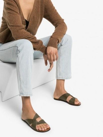 ATP ATELIER Allai flat sandals / green flats - flipped