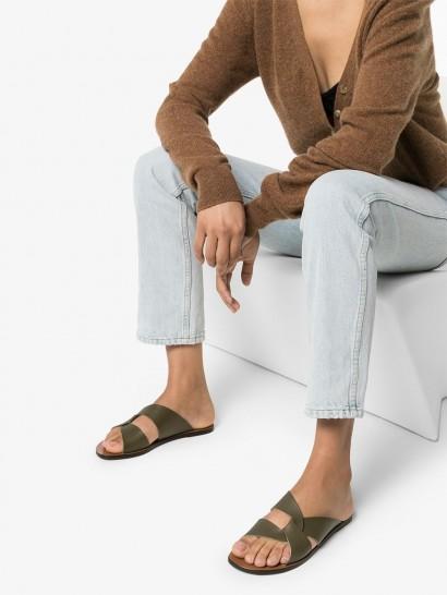 ATP ATELIER Allai flat sandals / green flats