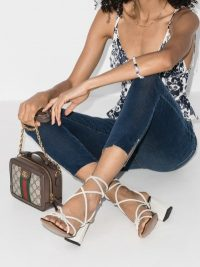 ATP Atelier White Andria 75 Leather Sandals ~ strappy summer block heel sandal