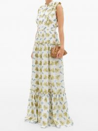 ERDEM Ava tiered floral fil coupé gown – ruffles & tiers