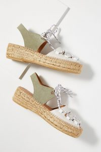 Naguisa Lydia Lace-Up Sandals in Khaki