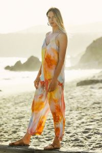 Bl-nk Sonrisa Tie-Dyed Jumpsuit Yellow Motif / summer jumpsuits