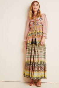 Bhanuni by Jyoti Giorgia Embroidered Maxi Dress ~ summer folk look ~ a little boho