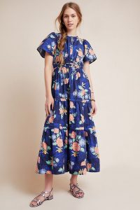 ANTHROPOLOGIE Somerset Maxi Dress / tiered summer dresses
