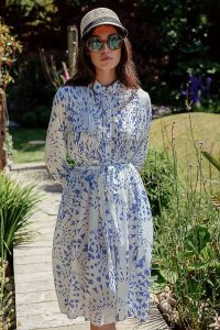 Tallulah & Hope Shirt Dress Blue Motif ~ waist tie dresses