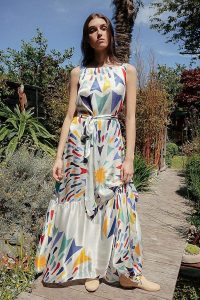 Tallulah & Hope Martha Cake Maxi Dress ~ long bold-print summer dresses