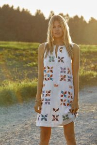 ANTHROPOLOGIE Marcie Embroidered Shift Dress