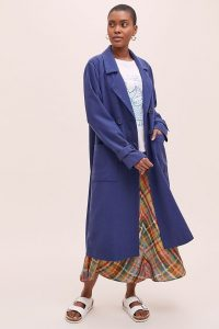 Marleigh Crinkle Trench Coat Navy