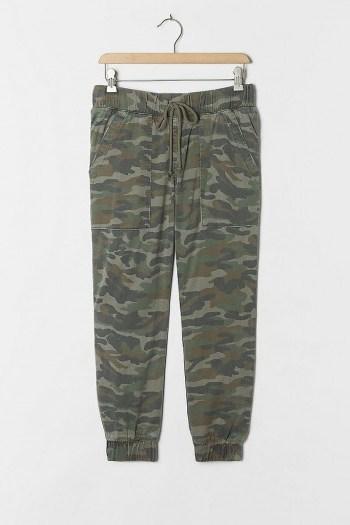 Cloth & Stone Camo Joggers / green jogging bottoms - flipped