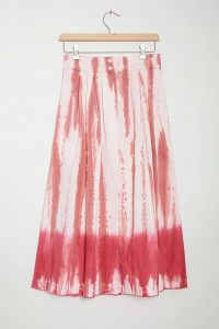 Tiny Ansley Tie-Dye Wrap Midi Skirt Pink
