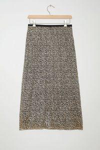 Maeve Anina Shimmer Midi Skirt Gold / metallic thread skirts