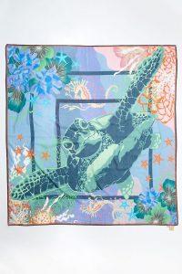 Becksondergaard Turtle Sico Silk Scarf / turtles / printed scarves