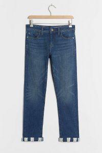 Pilcro High-Rise Shibori Slim Boyfriend Jeans   cuffed hems