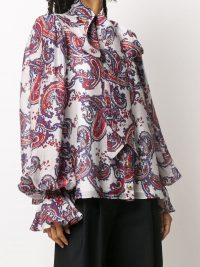 Balmain bandana-print pussy-bow blouse