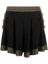 Balmain glitter-detail high-waisted shorts