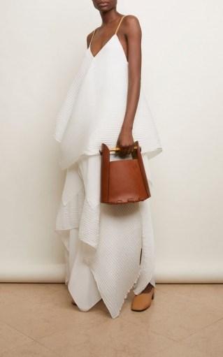 Loewe Bamboo Leather Bucket Top Handle Bag - flipped