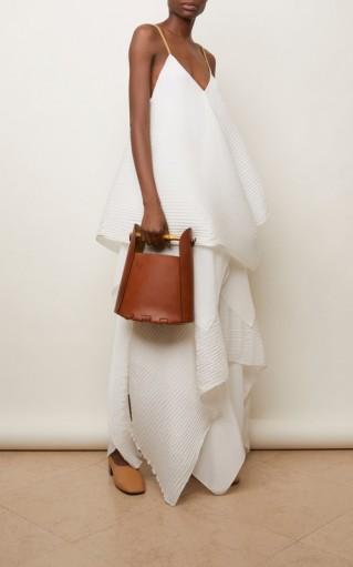 Loewe Bamboo Leather Bucket Top Handle Bag
