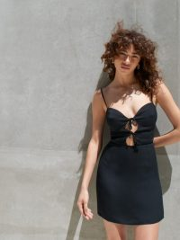 Reformation Bascom Dress | skinny strap mini | LBD