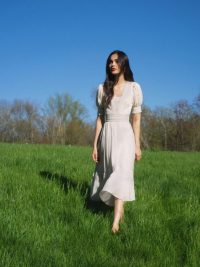 Reformation Betsie Dress Cream | romantic look fashion