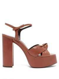 70s style platforms / SAINT LAURENT Bianca knotted leather platform sandals