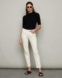 JIGSAW BLENHEIM CLASSIC STRAIGHT JEAN OFF WHITE   crop leg jeans