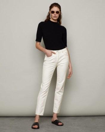 JIGSAW BLENHEIM CLASSIC STRAIGHT JEAN OFF WHITE | crop leg jeans - flipped