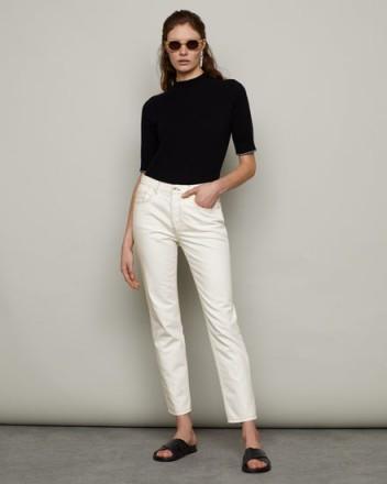 JIGSAW BLENHEIM CLASSIC STRAIGHT JEAN OFF WHITE | crop leg jeans