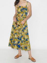 Borgo De Nor Camilla belted lemon-print dress / fruit print sundress
