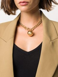 Bottega Veneta spherical pendant necklace / chunky chain necklaces