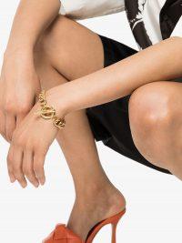 BRINKER & ELIZA Ringleader gold-tone bracelet / chunky chain link bracelets