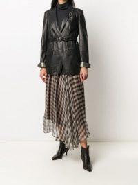 Brunello Cucinelli gingham print asymmetric skirt ~ asymmetrical hemlines
