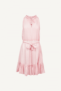 Heidi Klein Buenos Aires Ruffle Neck Mini Dress ~ pink pool dresses ~ beach bar clothing