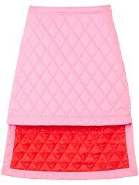 Burberry asymmetric diamond quilted skirt ~ bubblegum pink skirts ~ hi-low hemlines