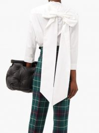 DUNCAN Burnes back-bow cotton shirt ~ white statement shirts